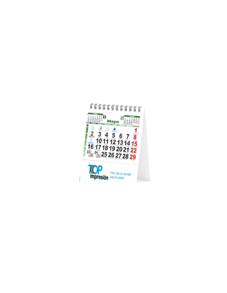 Pack 100 uds. Calendario mesa 11 x 14 cm